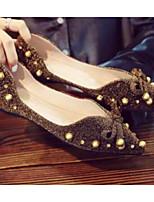 Недорогие -Жен. Комфортная обувь Полиуретан Весна На плокой подошве На плоской подошве Черный / Коричневый