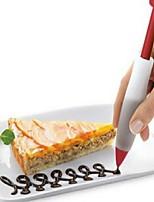 Недорогие -1шт печенье сливочный шоколад украшающий шприц силиконовая пластина краска перо торт печенье мороженое украшения ручки