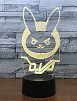 billiga -1st 3D nattlampa Ändring USB Touch Sensor / Färgskiftande 5 V