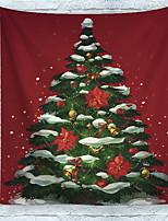 Недорогие -Новогодняя тематика Декор стены 100% полиэстер Традиционный Предметы искусства, Стена Гобелены Украшение