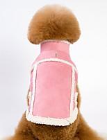 baratos -Cachorros / Gatos Casacos / Jaqueta Roupas para Cães Sólido Marron / Rosa claro Pele Falsa / Lã Polar Ocasiões Especiais Para animais de estimação Unisexo Aquecimento / Formais