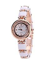 Недорогие -Жен. Нарядные часы Наручные часы Кварцевый Новый дизайн Повседневные часы Имитация Алмазный сплав Группа Аналоговый Мода Элегантный стиль Белый - Белый Один год Срок службы батареи