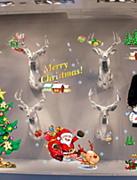 cheap -Window Film & Stickers Decoration Christmas Holiday PVC(PolyVinyl Chloride) Water-Repellent / Cool / Shop / Cafe