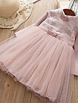 cheap -Kids Girls' Floral Half Sleeve / Long Sleeve Dress