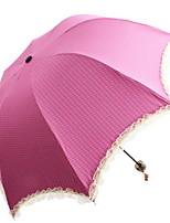 Недорогие -Ткань / пластик Все Солнечный и дождливой Складные зонты