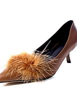 abordables -Femme Chaussures de confort Polyuréthane Automne Chaussures à Talons Talon Aiguille Noir