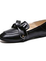 baratos -Mulheres Sapatos Confortáveis Couro Ecológico Outono Minimalismo Rasos Sem Salto Preto