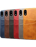 cheap -Case For Apple iPhone XS / iPhone XR Card Holder / Shockproof Back Cover Solid Colored Hard PU Leather for iPhone XS / iPhone XR / iPhone XS Max