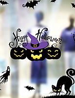 billiga -Fönsterfilm och klistermärken Dekoration Halloween Semester pvc Fönsterklistermärke