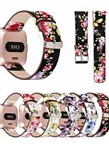 Недорогие -Ремешок для часов для Fitbit Versa Fitbit Кожаный ремешок Натуральная кожа Повязка на запястье