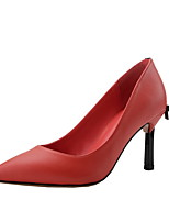abordables -Femme Escarpins Matière synthétique Printemps été Minimalisme Chaussures à Talons Talon Aiguille Bout pointu Noir / Rouge / Amande / Mariage / Soirée & Evénement