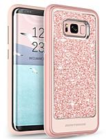 Недорогие -Кейс для Назначение SSamsung Galaxy S8 Plus Прозрачный / С узором / Сияние и блеск Кейс на заднюю панель Однотонный Мягкий ТПУ / ПК для S8 Plus