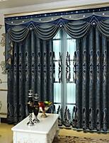 abordables -Rideaux Tentures Chambre à coucher Géométrique Polyester Imprimé