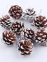 baratos -Ornamentos Tema Flores / Árvore de Natal PVC Redonda Brinquedo dos desenhos animados Decoração de Natal