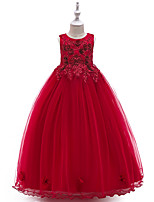 cheap -Princess Dress Flower Girl Dress Girls' Movie Cosplay A-Line Slip Cosplay Red / Blue / Beige Dress Halloween Carnival Masquerade Tulle Polyester