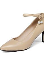 abordables -Femme Escarpins Cuir Nappa Printemps Chaussures à Talons Talon Aiguille Noir / Amande