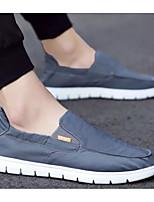 Недорогие -Муж. Комфортная обувь Полотно Весна & осень Мокасины и Свитер Черный / Серый