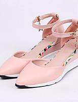Недорогие -Жен. Комфортная обувь Полиуретан Весна На плокой подошве На плоской подошве Черный / Розовый