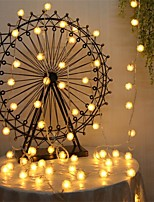 cheap -10m String Lights 100 LEDs Warm Yellow Decorative 220-240 V 1 set