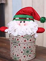 baratos -Enfeites de Natal Natal / Férias Tecido de Algodão Rectângular Festa / Novidades Decoração de Natal