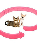 cheap -Cats Collar Portable / Adjustable / Retractable / Folding Solid Colored PU Leather / Polyurethane Leather Pink