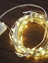 Недорогие -1m Гирлянды 10 светодиоды Тёплый белый Декоративная / Cool Аккумуляторы AA
