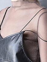 baratos -Mulheres Blusa Sólido Ombro a Ombro