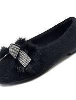 Недорогие -Жен. Комфортная обувь Полиуретан Осень На каждый день На плокой подошве На плоской подошве Бант Черный / Бежевый / Хаки