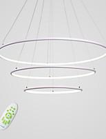 billiga -CONTRACTED LED 3-Light Cirkelrunda Ljuskronor Glödande Målad Finishes Aluminium Flerfärgad skärm, Justerbar, Bimbar 110-120V / 220-240V Varmt vit / Kall vit / Dimbar med fjärrkontroll LED-ljuskälla