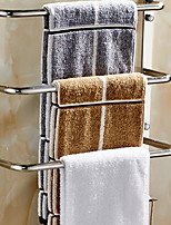 cheap -Towel Bar New Design Contemporary Stainless Steel / Iron 1pc 4-towel bar Wall Mounted