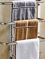 Недорогие -Держатель для полотенец Новый дизайн Современный Нержавеющая сталь / железо 1шт 4-полосная доска На стену