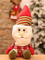 baratos -Enfeites de Natal Férias Tecido Quadrada Festa Decoração de Natal