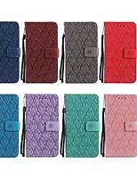 Недорогие -Кейс для Назначение OPPO R9s / A57 Кошелек / Бумажник для карт / со стендом Чехол Цветы Твердый Кожа PU для Oppo R11 / OPPO R9s / OPPO F1s