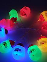 Недорогие -1,5 м Гирлянды 10 светодиоды Тёплый белый / Белый / Разные цвета Новый дизайн / Декоративная / Cool Аккумуляторы AA 1 комплект