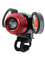 baratos -Luz Frontal para Bicicleta LED Luzes de Bicicleta Ciclismo Impermeável, Durável Bateria Recarregável Lithium-ion 800 lm Branco Quente / Vermelho Ciclismo