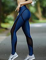 abordables -Femme Mosaïque Pantalon de yoga - Bleu royal Des sports Bloc de Couleur Maille Collants / Leggings Danse, Course / Running, Fitness Tenues de Sport Doux, Butt Lift, Power Flex Elastique Slim, Mince