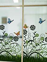 baratos -Filme de Janelas e Adesivos Decoração Floral Floral PVC Fofo