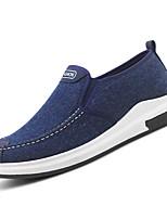 Недорогие -Муж. Комфортная обувь Полотно Осень На каждый день Мокасины и Свитер Нескользкий Черный / Серый / Синий