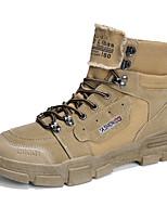 Недорогие -Муж. Армейские ботинки Замша Осень / Весна лето На каждый день Ботинки Для прогулок Дышащий Ботинки Черный / Белый / Хаки