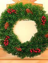 baratos -Guirlandas Tema Flores PVC Circular Novidades Decoração de Natal