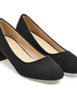 Недорогие -Жен. Комфортная обувь Замша Весна Свадебная обувь На толстом каблуке Черный / Серый / Розовый / Свадьба