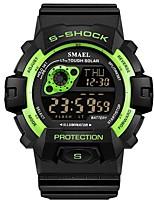 baratos -SMAEL Homens Relógio Esportivo Japanês Digital 30 m Impermeável Calendário Cronógrafo Plastic Banda Digital Fashion Preta - Verde Azul