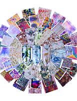 Недорогие -80 pcs Наклейка для фольги Стикеры кружева Тату с цветами / Снежинка маникюр Маникюр педикюр Новый дизайн / Лучшее качество Массивный / модный Рождество / Halloween / Вечеринка / ужин
