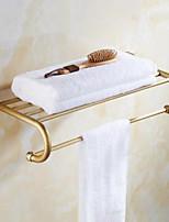 cheap -Towel Bar / Bathroom Shelf New Design Contemporary Brass 1pc Wall Mounted