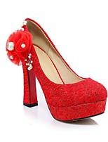 abordables -Femme Escarpins Toile Printemps Chaussures à Talons Talon Bottier Noir / Rouge