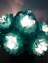 Недорогие -1,5 м Гирлянды 10 светодиоды Тёплый белый Новый дизайн / Декоративная / Cool Аккумуляторы AA 1 комплект