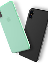 billiga -fodral Till Apple iPhone X / iPhone 8 / iPhone 8 Plus Dammtät Skal Enfärgad Hårt Plast för iPhone X / iPhone 8 Plus / iPhone 8