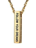 Недорогие -Муж. Стильные Ожерелья с подвесками - Нержавеющая сталь Мода Золотой, Черный, Серебряный 55 cm Ожерелье Бижутерия 1шт Назначение Подарок, Повседневные