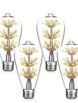 Недорогие -4шт 3 W LED лампы накаливания 200 lm E26 / E27 ST64 47 Светодиодные бусины SMD Декоративная звездный Новогоднее украшение для свадьбы Тёплый белый 85-265 V
