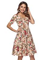 Недорогие -Жен. Изысканный / Элегантный стиль Оболочка Платье - Геометрический принт До колена
